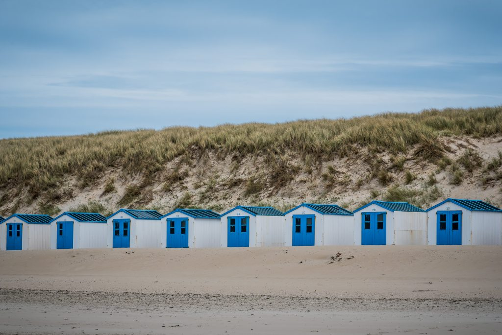 Camping houses at the beach from Texel